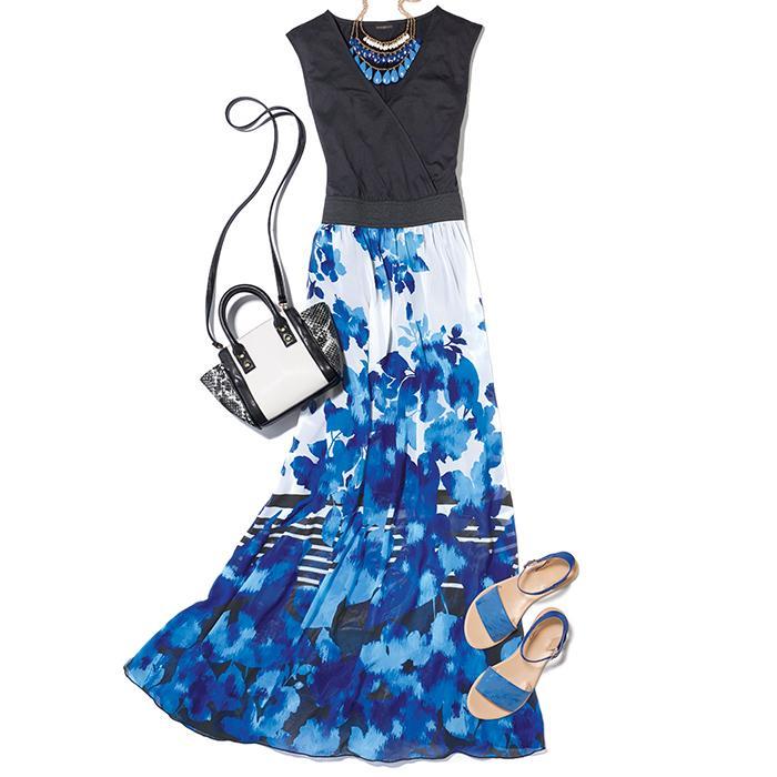 Modern Floral Maxi Dress