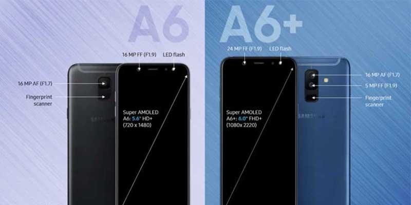 Samsung Galaxy A6 dan Galaxy A6+