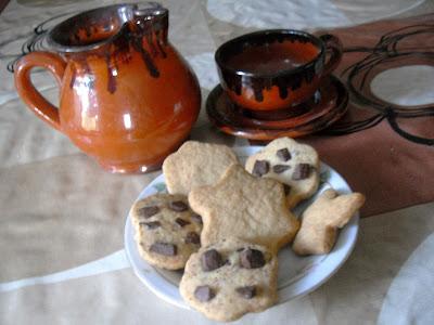 Galletas de mantequilla con pepitas de chocolate