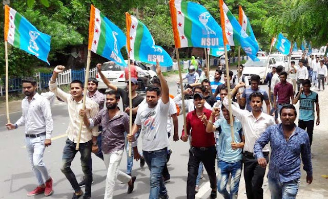 NSUI-Activist-agitation-in-faridabad