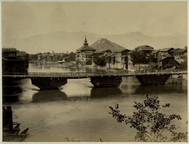 Bridge in Srinagar, Kashmir - c1880's