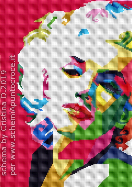 Marilin Monroe cross stich