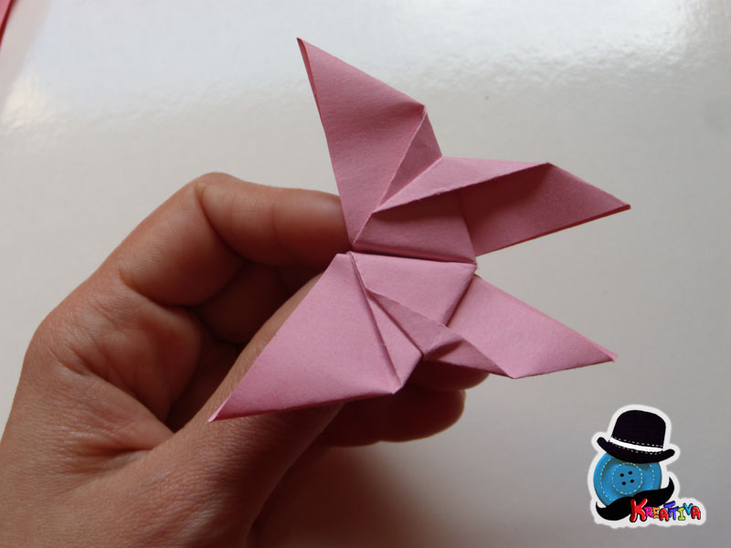 tutorial farfallina origami