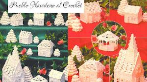 Casas, Catedrales y Pinos tejidos al Crochet / Revista en PDF