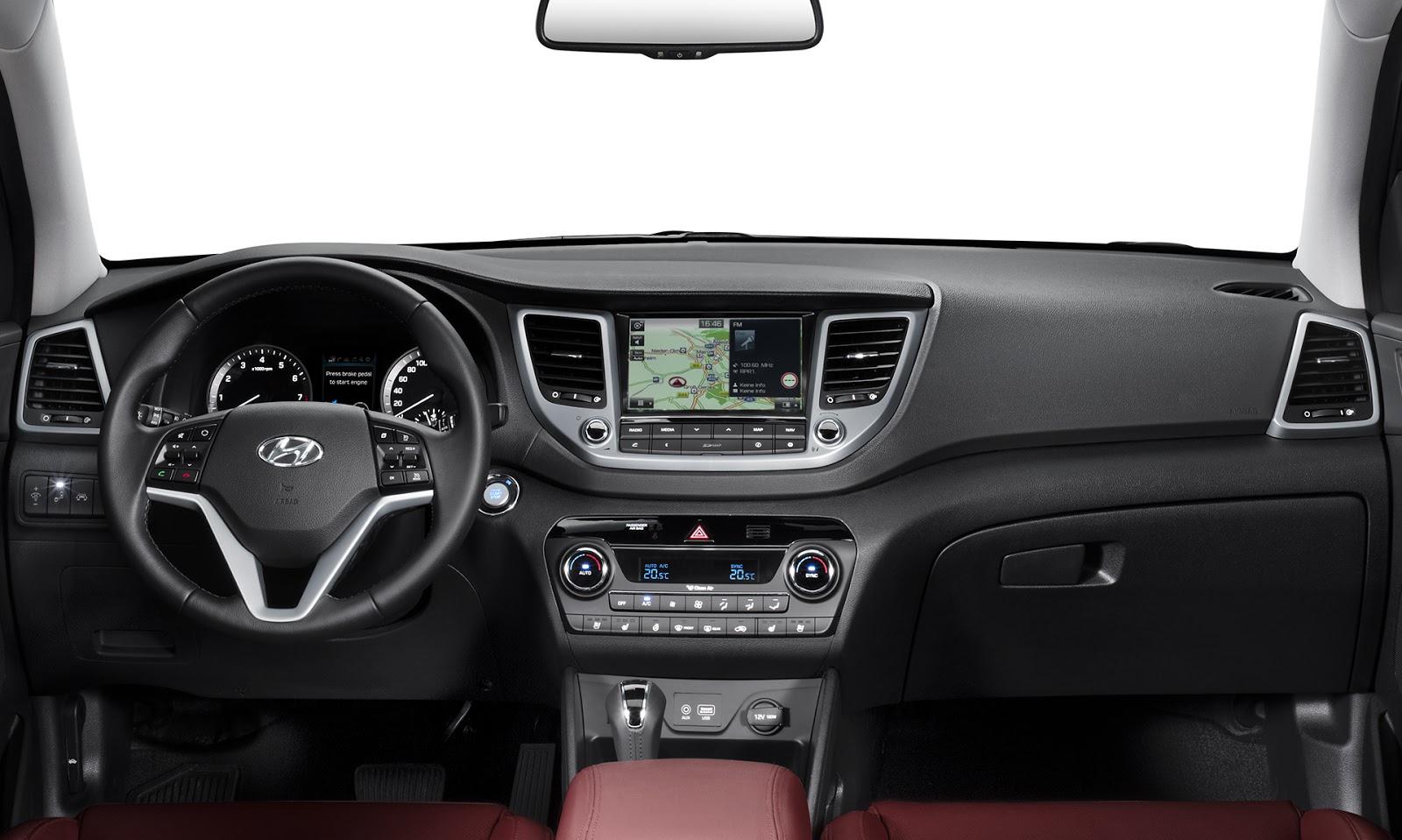 Toyota Santa Cruz >> Interni Hyundai Tucson 2015-2016 - Nuova Hyundai Tucson ...
