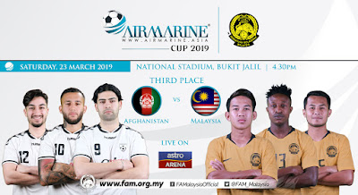 Live Streaming Afghanistan vs Malaysia AirMarine Cup 23.3.2019