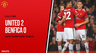 Manchester United Kalahkan Benfica 2-0 Highlights