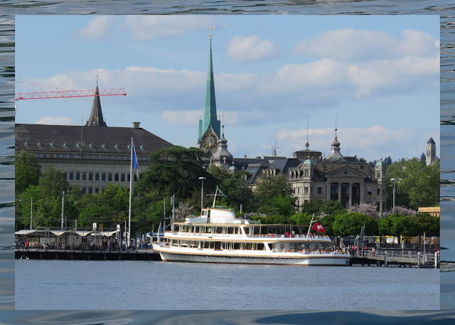 A Small Circuit of Zurich Lake - Boat and City