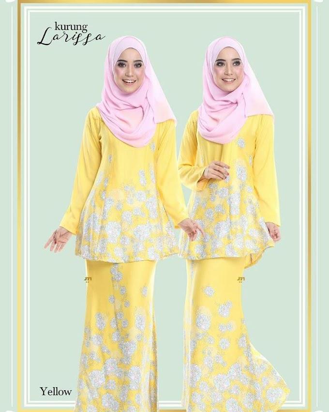 Kurung Larissa (Yellow)