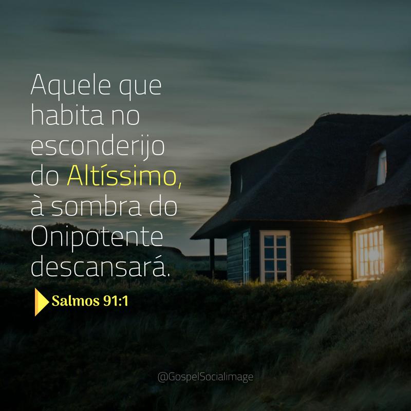 Imagem Salmo 91.1 Evangélico