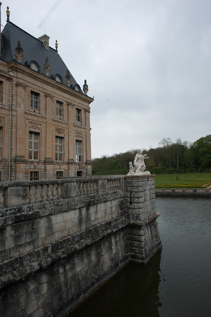 The Vaux Le Vicomte Castle moat Outside Paris in Maincy France