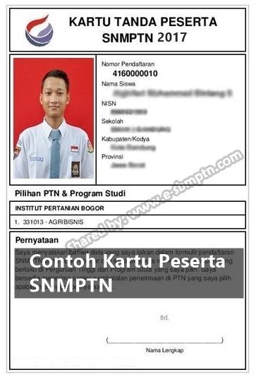 Cetak Kartu Peserta SNMPTN
