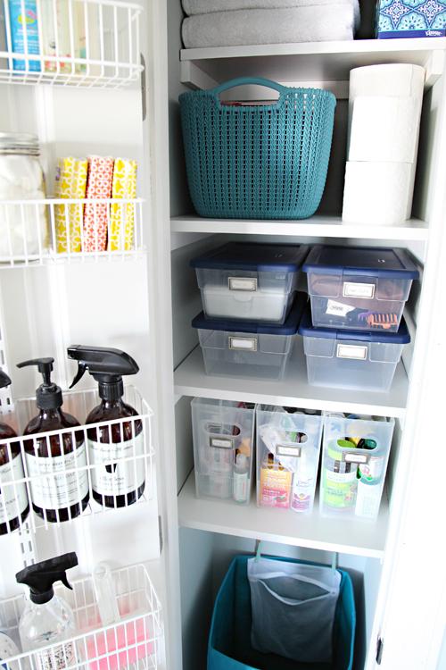 Organized Linen Closet Iheart Organizing Bloglovin