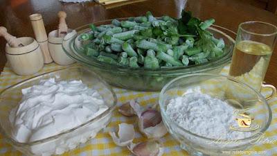 Supa de fasole verde congelata - etapa 1