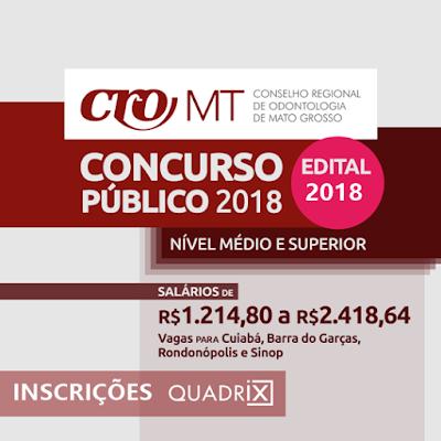 inscrição concurso do CROMT