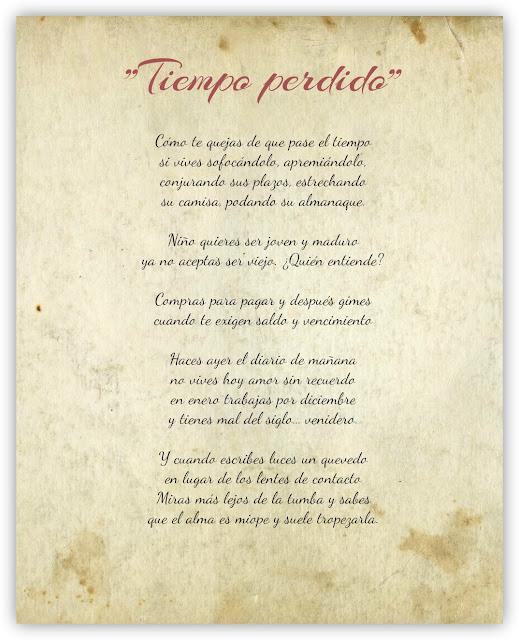 Tiempo Perdido - Rogelio Echavarría Poema Completo