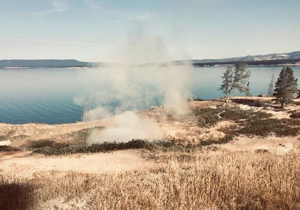 Heiße Quellen im Yellowstones