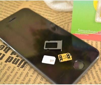 Các loại sim ghép iphone 6 bản lock Nhật
