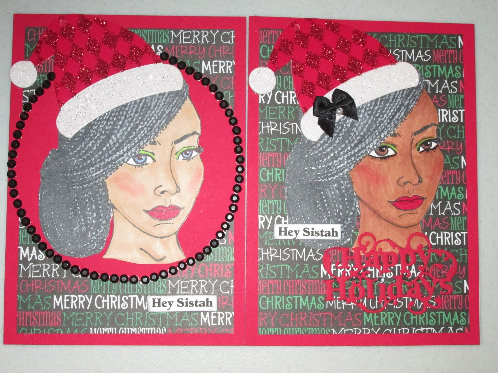 santa hat chair back covers hobby lobby spandex vancouver my afrocentric creations hey sistah holiday cards