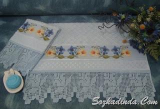 gul motifli havlu kenarı modelleri