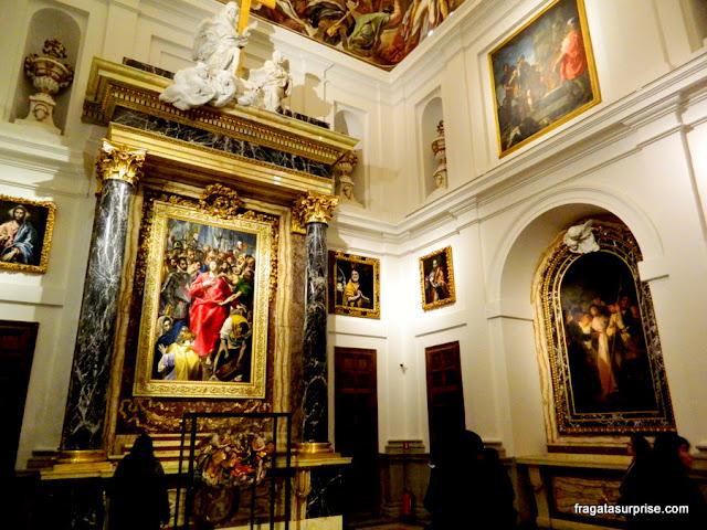O Espólio, obra de El Greco, na Sacristia da Catedral de Toledo