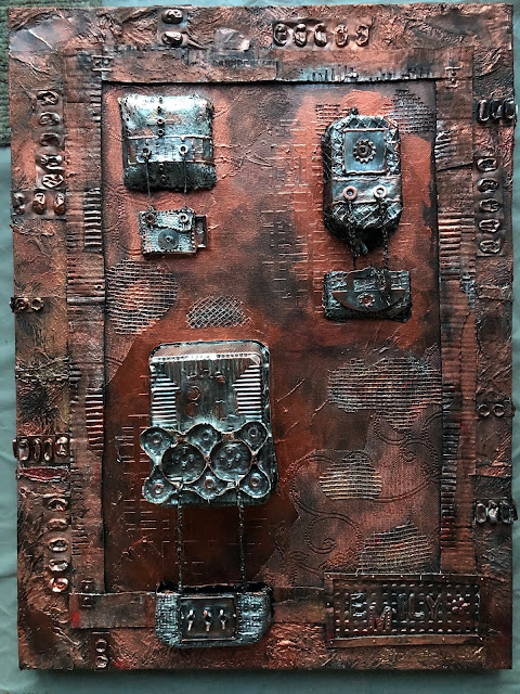 upcycled mixed media - 60 x 80 cm