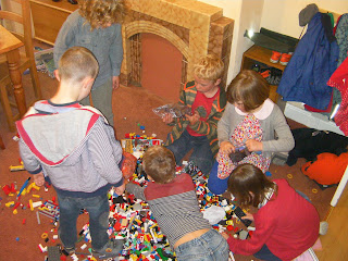 huge pile of mixed lego