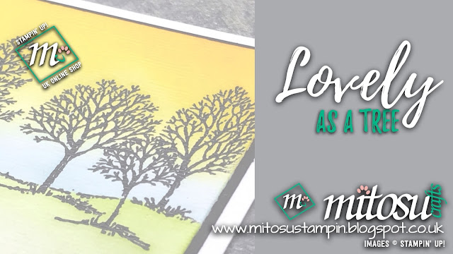 Stampin' Up! Lovely As A Tree Card Idea. Order Craft Products from Mitosu Crafts UK Online Shop