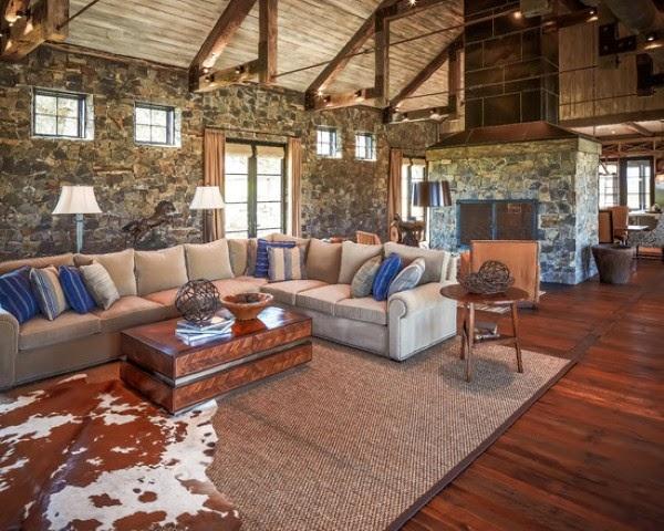 Small rustic living room design