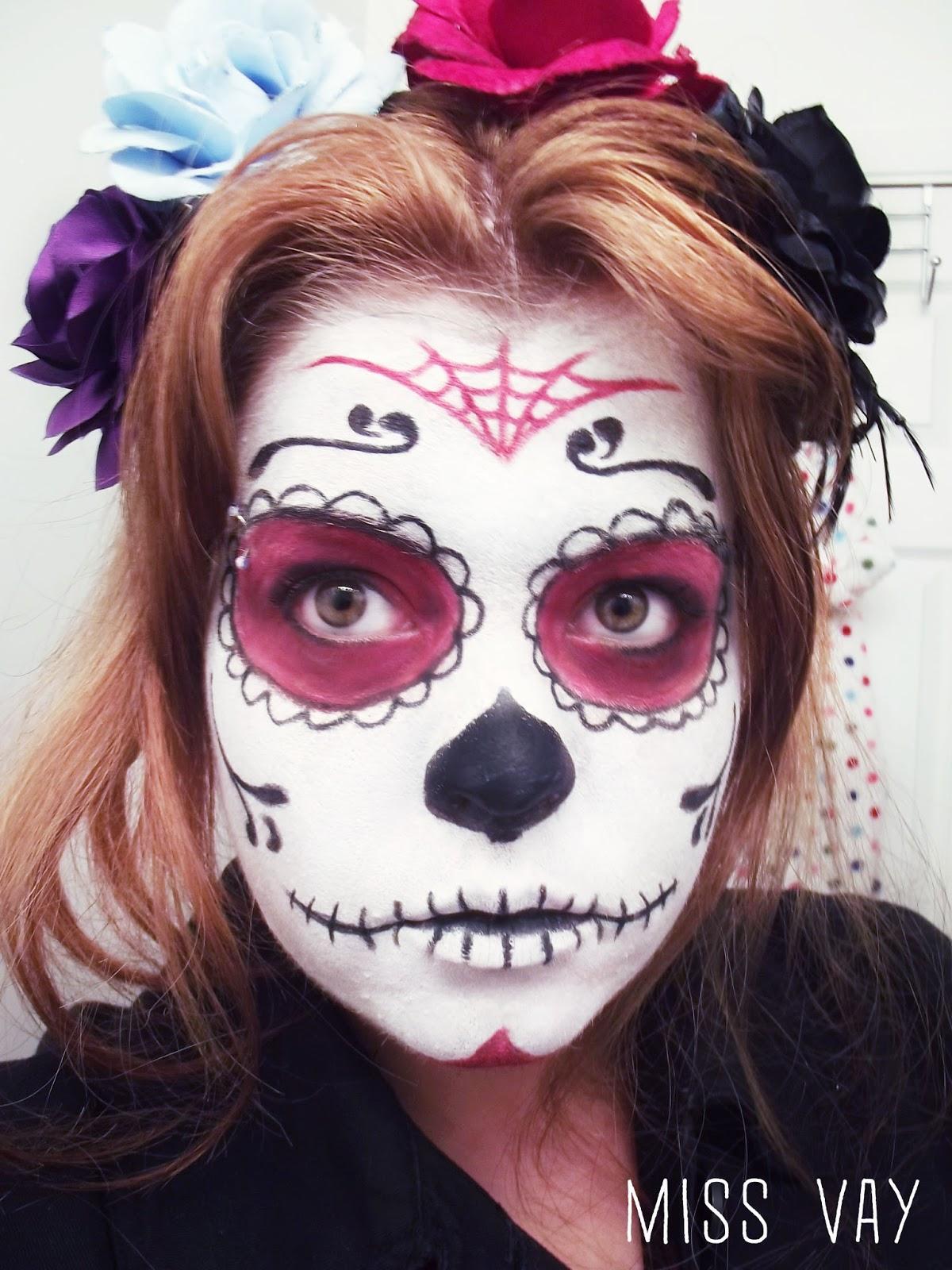 maquillage pour le dia de los muertos sugar skull calaveras miss vay blogue lifestyle. Black Bedroom Furniture Sets. Home Design Ideas