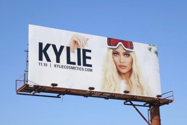 Kylie Cosmetics Holidays 2018 billboard