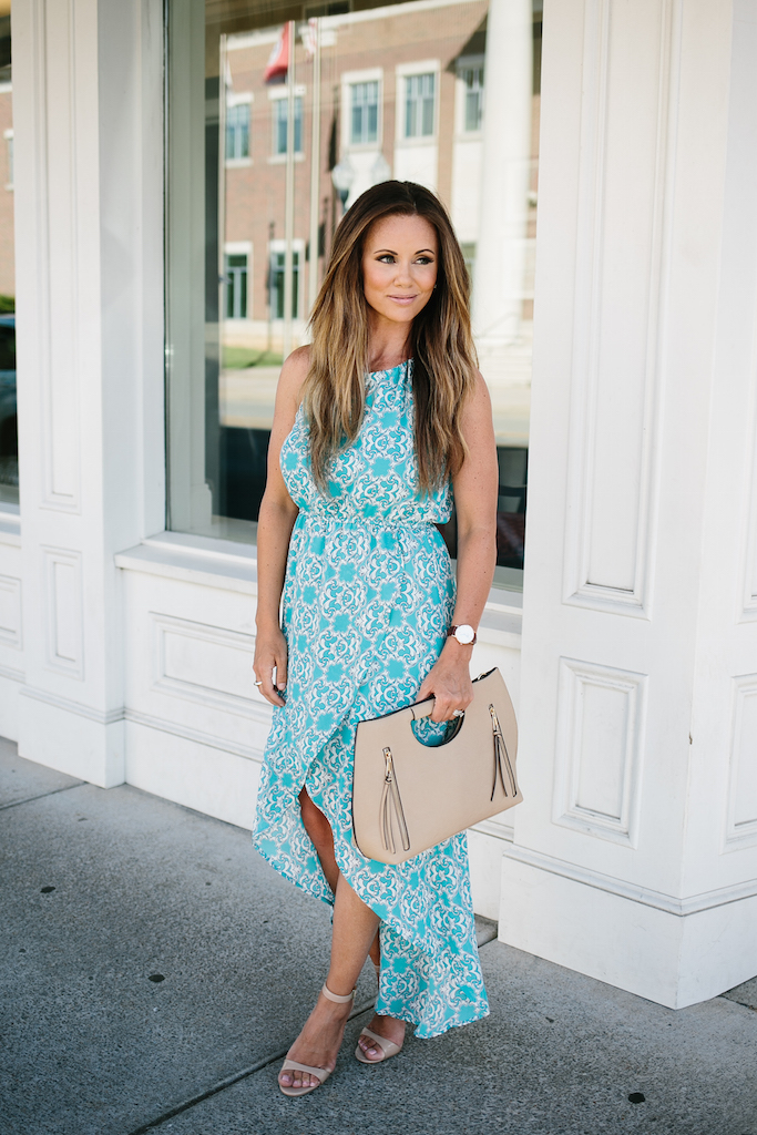 KBStyled: high low dress, maxi dress, turquoise dress, maxi dresses