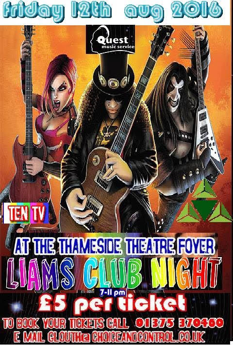 Image of three guitar heros including Slash, a woman and someone from Kiss.