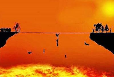 Lakukan Hal Ini Untuk Permudah Langkah Lewati Shirathal Mustaqim 58f17d9eb1ab5 gambaran shirath atau jembatan di atas neraka jahannam 663 382