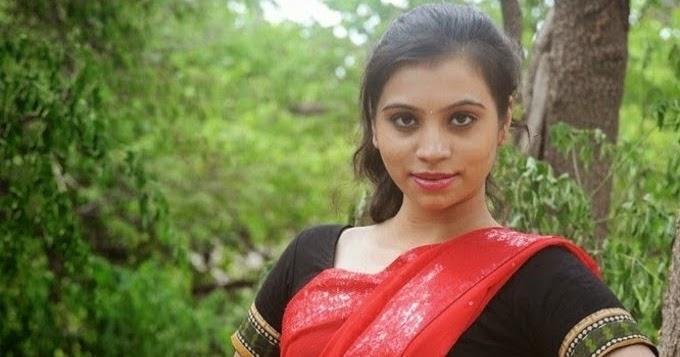 Priyanka Red Saree Navel Show