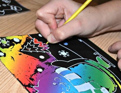 Christmas Scratch Art Scenes