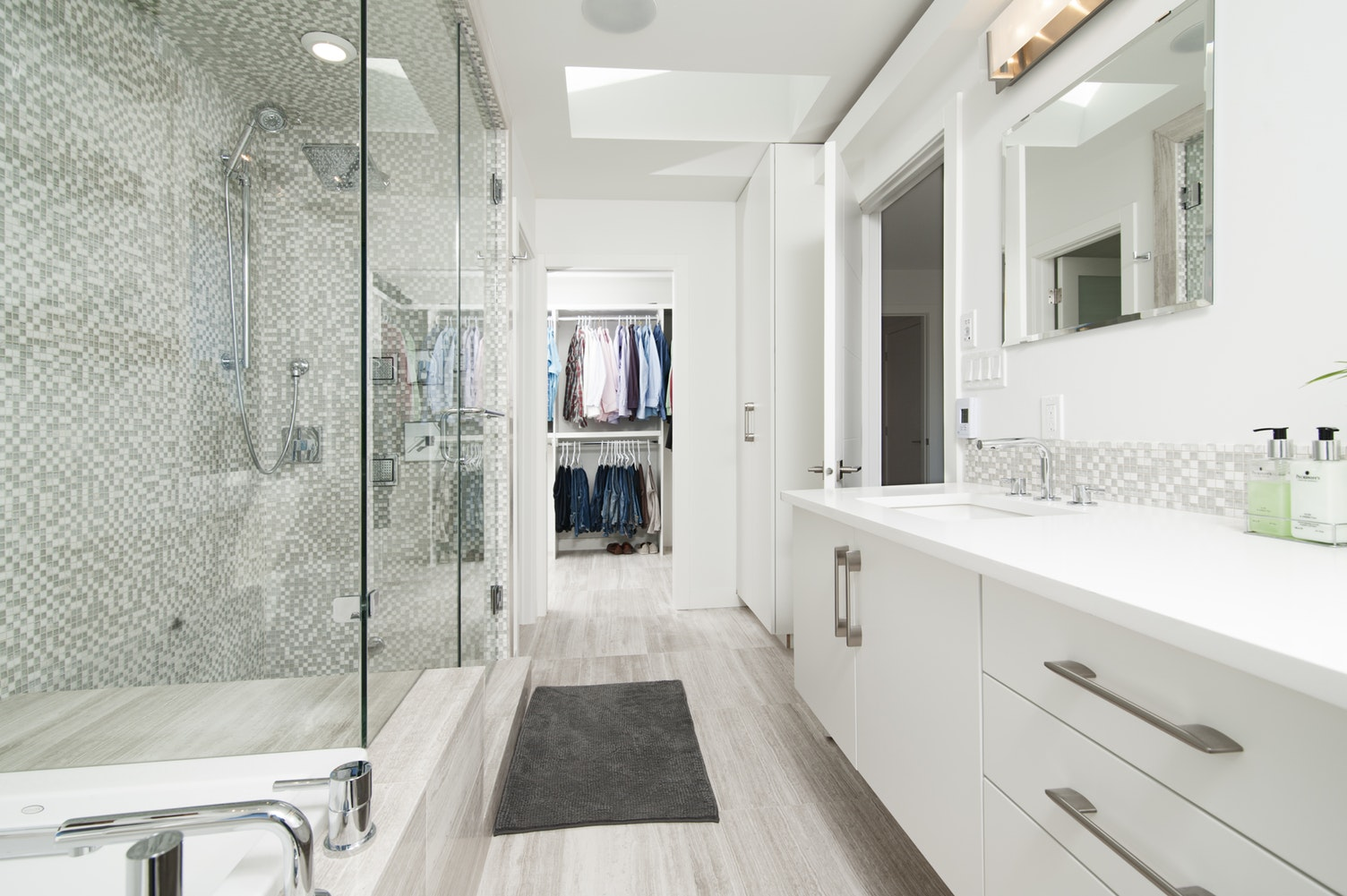 modern bathroom with a bright and airy feel
