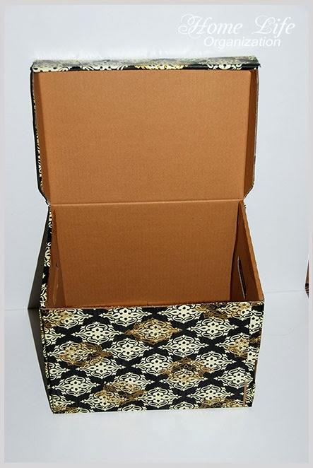 Как обклеить коробку упаковочной бумагой