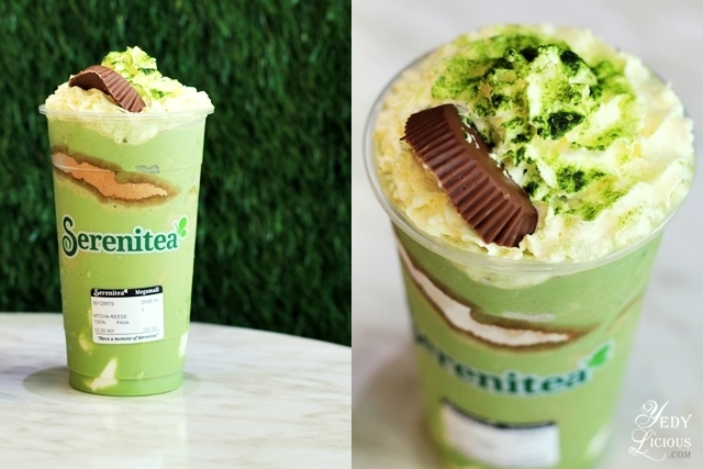 Serenitea Matcha Slush with Reese's Peanut Butter Cups