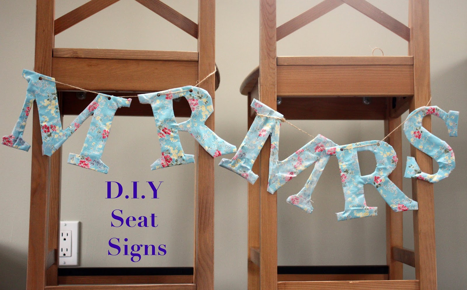 D.I.Y wedding seat sign letters