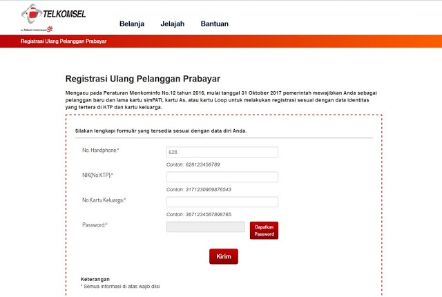 Cara Cek Data Registrasi Kartu Simpati Loopt As Telkomsel