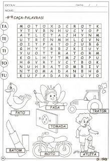 Atividades alfabetização letra T