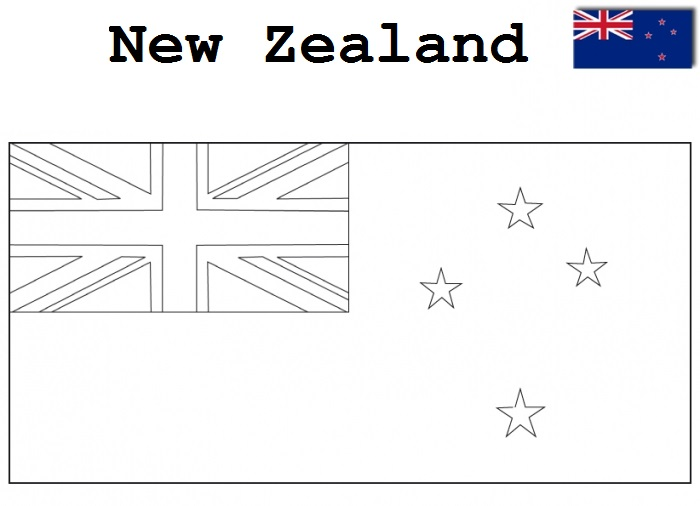 Geography Blog: New Zealand Flag Coloring Page