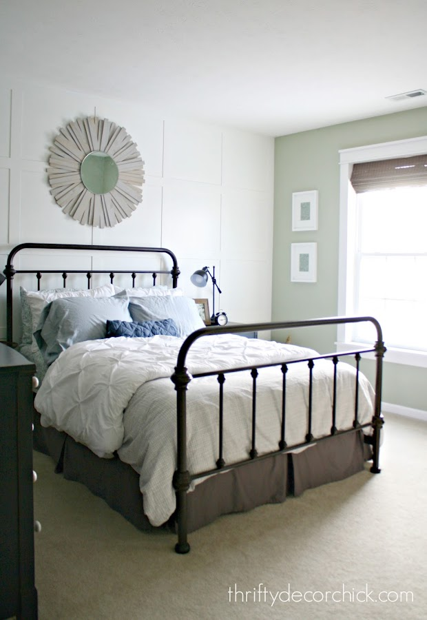 Metal bed cottage bedroom