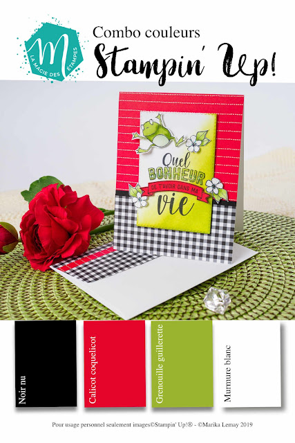 combinaison de couleur Stampin' Up!