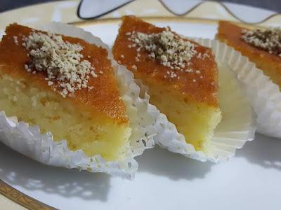 وصفة البسبوسة التركية لذيذة المذاق