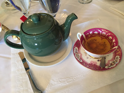 Pot of tea during Reynold's Tavern Tea Service in Annapolis, Maryland