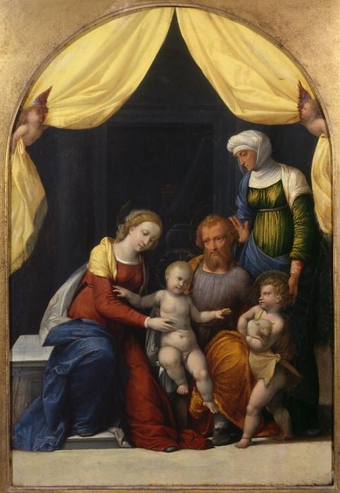 Benvenuto Tisi (Garofalo) (1481-1559) - Святое семейство с Младенцем с Святым Иоанном и Святой Елизаветой