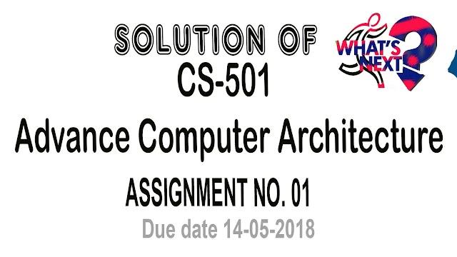 CS 501 Assignment No 1 Solution Spring 2018 due date 14-05-2018