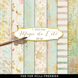 New Freebies Kit of Backgrounds - Magie de L